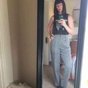 Vintage High Waisted Trousers 80's